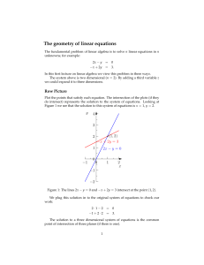 The Geometry of Linear Equations