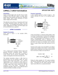 LVPECL / LVDS Termination - Integrated Device Technology