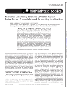 highlighted topics - American Journal of Physiology