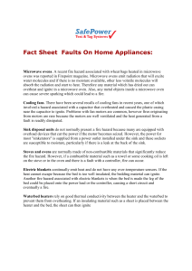 Fact Sheet Faults On Home Appliances