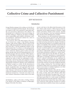 Collective Crime and Collective Punishment