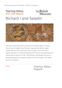 Richard I and Saladin
