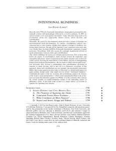 intentional blindness - New York University Law Review