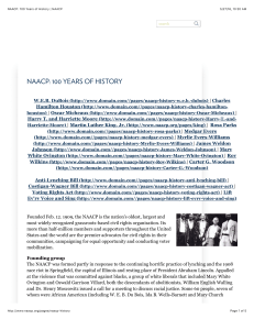 NAACP: 100 Years of History | NAACP