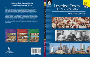 Leveled Texts for Social Studies: The 20th C en