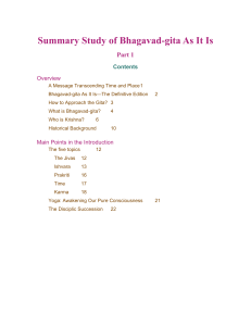 Summary Study of Bhagavad-gita As It Is