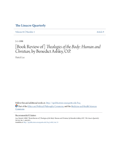 [Book Review of] Theologies of the Body: Human and Christian, by
