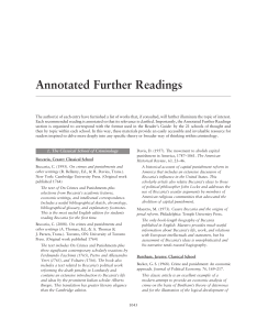 Annotated Further Readings
