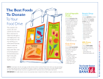Best Foods To Donate To Your Food Drive
