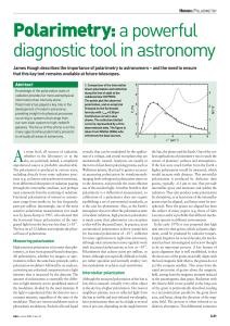 Polarimetry: a powerful diagnostic tool in astronomy