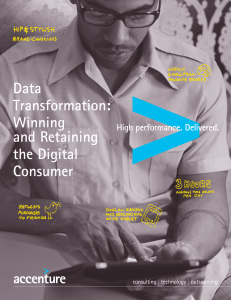 Data Transformation: Winning and Retaining the Digital