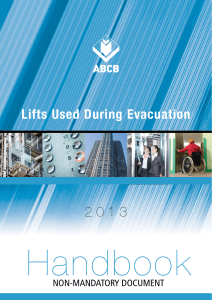 Handbook: Lifts Used During Evacuation