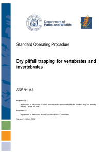 Dry pitfall trapping for vertebrates and invertebrates