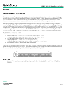 HPE SN6000B Fibre Channel Switch