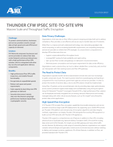 Thunder CFW IPsec site-to-site VPN – Massive Scale and