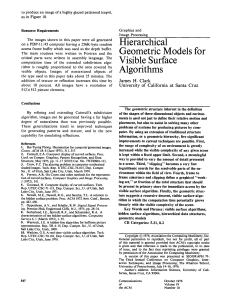 Hierarchical geometric models for visible surface algorithms
