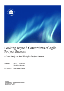 Looking Beyond Constraints of Agile Project Success