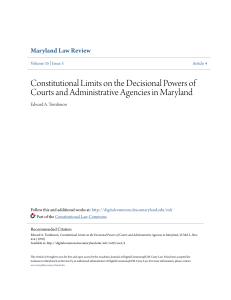 Constitutional Limits on the Decisional Powers of Courts and