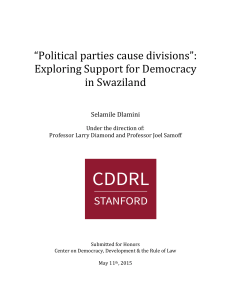 """Political parties cause divisions"": Exploring Support for"