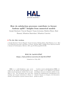 How do subduction processes contribute to forearc - HAL-Insu