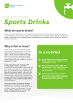 Sports Drinks - Nutrition and Activity Hub