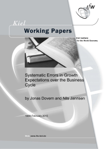 Systematic Errors in Growth Expectations over the Business Cycle