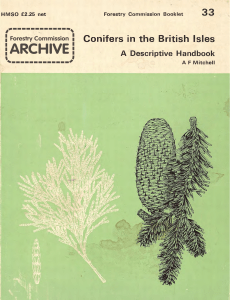 Forestry Commission Booklet: Conifers in the British Isles