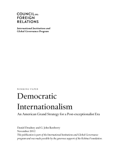 Democratic Internationalism - Council on Foreign Relations