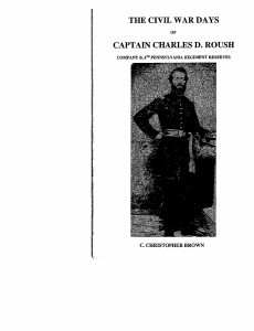 The Civil War Days of Captain Charles D. Roush