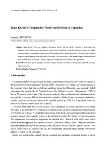 János Kornai`s Comparative Theory and Defense of Capitalism