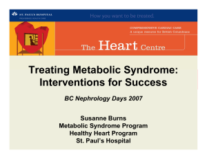 Treating Metabolic Syndrome: Interventions for Success