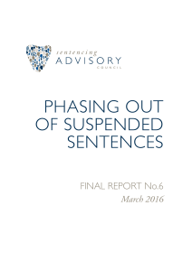 Phasing out suspended Sentences Final Report No.6