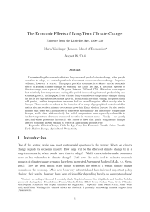 The Economic Effects of Long-Term Climate