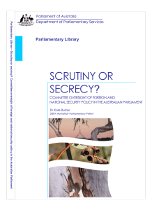 Scrutiny or Secrecy - Parliament of Australia