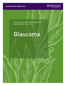 Practicing Ophthalmologists Curriculum Glaucoma