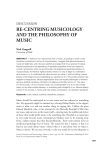 Recentering Musicology and the Philosophy of Music
