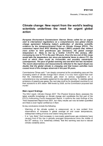 Climate change: New report from the world`s leading