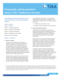Frequently asked questions about TIAA Traditional Annuity
