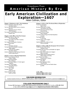 AHE-Early American Civilization and Exploration - F02