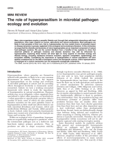 The role of hyperparasitism in microbial pathogen ecology