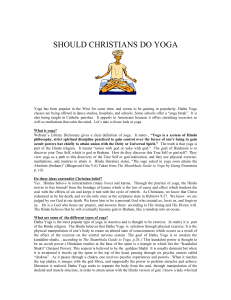 should christians do yoga - Sword of Light and Truth