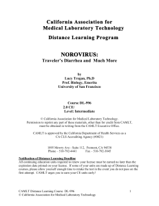 norovirus - California Association for Medical Laboratory Technology