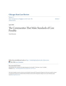 The Communities That Make Standards of Care Possible
