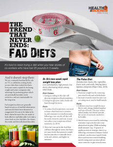 The Trend That Never Ends: Fad Diets