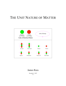 the unit nature of matter - Starlight Publishing Company