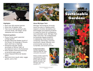 Sustainable Gardens - Michigan Technological University