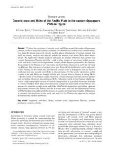 Thematic Article Oceanic crust and Moho of the Pacific Plate in the