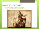 Nomadic Incursion MMW 13, Lecture 3