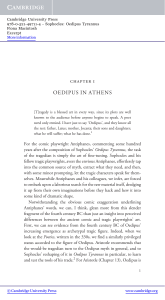 chapter 1 OEDIPUS IN ATHENS - Beck-Shop
