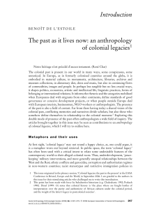 Introduction The past as it lives now: an anthropology of colonial